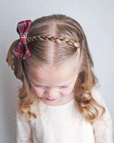 coiffure facile pour petite fille tresse barrette noeud  #hair #girls