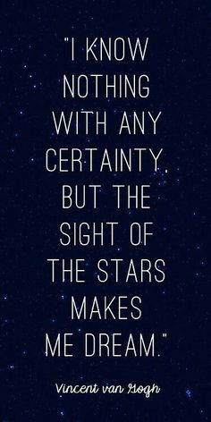 It's why dreamers look at the sky so often.
