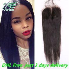 7A Grade 4*4 Virgin Peruvian Hair Silky Straight Lace Closure 100% Unprocessed Human Hair Free/Middle/Side/3 Part Lace Closures -  http://mixre.com/7a-grade-44-virgin-peruvian-hair-silky-straight-lace-closure-100-unprocessed-human-hair-freemiddleside3-part-lace-closures/  #Closure