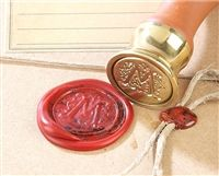 A custom wax seal stamp kit. Great gift idea for a newly married couple, anniversary, and/or college grad.