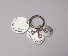 Personalised Grandma keyring 'We / I love Nanna by PFJewelleryshop