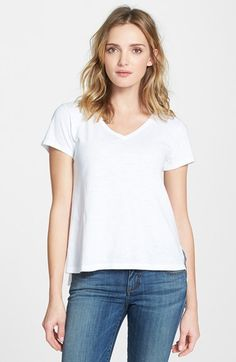 Eileen Fisher Organic Cotton V-Neck Tee (Regular & Petite) (Online Only) | Nordstrom