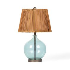 This bright, translucent ocean-sky-blue Seaside Sea Glass Lamp is a perfect addition to your light, island-inspired interior oasis, and is reminiscent of the thatch and bamboo structures of the Balines...  Find the Seaside Sea Glass Lamp, as seen in the Table Lamps Collection at http://dotandbo.com/category/lighting/lamps/table-lamps?utm_source=pinterest&utm_medium=organic&db_sku=FSD0008