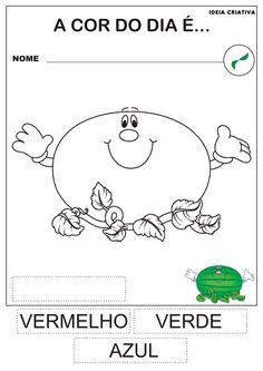 atividade educação infantil a cor verde - Pesquisa Google