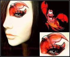 Sebastian the crab makeup