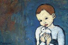 Detalle del 'Niño con paloma' de Picasso