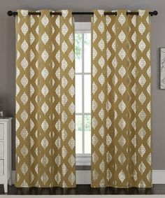 Loving this Gold Sorrento Curtain Panel - Set of Two on #zulily! #zulilyfinds