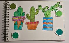 Cactus colorful 😍 Cactus, Office Supplies, Notebook, Colorful, Prickly Pear Cactus, Stationery, Notebooks, Exercise Book, Scrapbooking