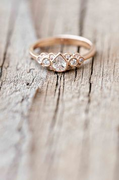 Wilson Diamonds: Ring Style Number R5536E #pearring #rosegold #vintageengagementring