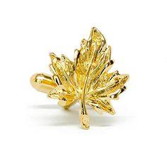 Golden Maple Leaf Cufflinks