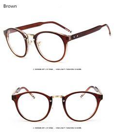 d0e932e775 Brand Female Grade Glasses Frame Women Myopia Eye Glasses Frame Men Optical  Glasses Vintage Round Eyeglasses Frame For Eyewear