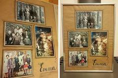 Retro-Fotos mit Rahmen / DIY ... alles vonKarin