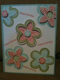Triple Treat Flower Birthday by Bonisav - Cards and Paper Crafts at Splitcoaststampers