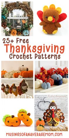 More than 25 Free fall and Thanksgiving Crochet Patterns Cute Crochet, Crochet Hats, Thanksgiving Crochet, Sewing For Beginners, Sewing Tutorials, Crochet Projects, Free Printables, Crochet Patterns, Bandanas