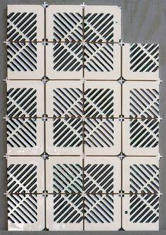 dutch design week maaike roozenburg: polypropylene crate tile collection