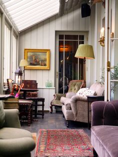 Interior design inspiration - The Pig Hotel Brockenhurst Conservatory Interiors, Conservatory Decor, The Pig Hotel, Living Room Decor, Living Spaces, Snug Room, Boutique Interior Design, Hotel Interiors, Cozy House