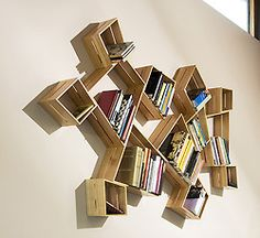 bookshelf art