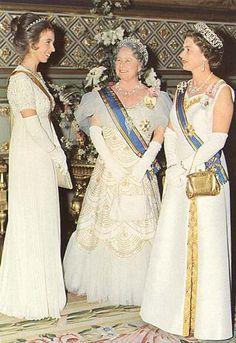 Three Generations-Princess Anne, The Queen Mother, Queen Elizabeth II