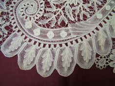 Antique Brussels Handmade Bobbin Lace Lovely Length | eBay