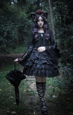 Lolita Lilith cosplay Dark Gothic Palace Princess Lace Layerd dress costume | eBay