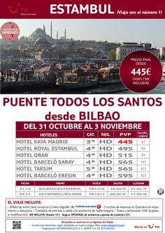 Puente Todos los Santos en ESTAMBUL desde Bilbao. Precio final desde 445€ - http://zocotours.com/puente-todos-los-santos-en-estambul-desde-bilbao-precio-final-desde-445e/