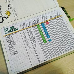 10 Must-Have Bullet Journal Pages to Stay on Top of Your Finances this 2020 – Finance tips, saving money, budgeting planner How To Bullet Journal, Bullet Journal Ideas Pages, Bullet Journal Inspo, Journal Pages, Bullet Journal Savings Tracker, Bills Tracker, Bullet Journal Project Planning, Bullet Journal Cleaning Schedule, Bullet Journal With Stickers