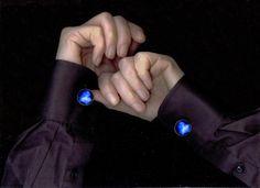Cosmic Cufflinks - Astronomy Gift - Blue Glass Cabochon Cuff Links - Galaxy Jewellery/ Accessories - Crab Pulsar Wind Nebula https://www.etsy.com/nz/shop/MajorTomJewellery