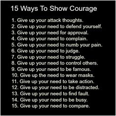 15 ways to show courage