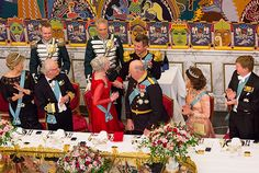 King and Queen and Crown Princess Couple celebrate Queen Margrethe's 75th birthday - Royal Court