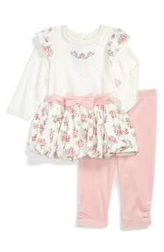 Little Me 'Rose' Dress & Leggings (Baby Girls) available at #Nordstrom
