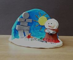 "Love the idea of making a ""dome"" for the background setting. Ted Harrison thought it was a compliment that children could understand his art. That's why they'll also love these Ted Harrison Art Projects for Kids! Ceramics Projects, Clay Projects, Projects For Kids, Project Ideas, Artists For Kids, Art For Kids, Lessons For Kids, Art Lessons, Canada For Kids"