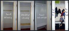 An ordinary coat closet transformed into a mini mud room