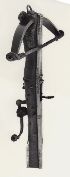 German    Crossbow, late 17ith century    Wood, steel, staghorn, cord, and silk fiber  L. 63.5 cm (25 in.)
