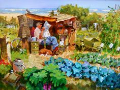 On the allotment by John Haskins born 1938 in Bermondsey (London), UK