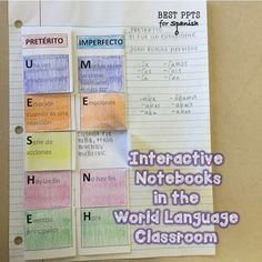 Interactive Notebooks in the World Language Classroom : Part Two   Best PowerPoints for Spanish