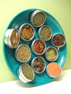 Magnetic Spice Rack! LOVE this...