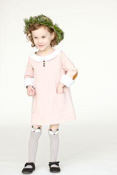 Pink Christmas Shift Dress // Delia Creates