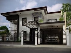 design exterior philippines This modern house is located in Philippines and offers a spectacular blend of lu. This modern house is located in Philippines and offers a spectacular blend of luxurious home interiors and gorgeous outdoor living. Modern Zen House, Modern House Facades, Modern Bungalow House, Modern House Plans, Modern House Design, Modern Living, 2 Storey House Design, House Front Design, Modern House Philippines