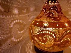 Japanese Art,Hyotan Gourd Light,Lamp,Ornament,Japan by seseragihands on Etsy