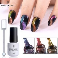 BORN PRETTY Chameleon Cat Eye Nail Gel Varnish 3D Magnetic Gel Soak Off UV Gel Polish With Magnet Board . Click visit to buy this product