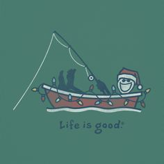 Men's Holiday Fishing Long Sleeve Crusher Tee | Life is good