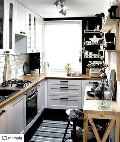 Ikea Kitchen, Home Decor Kitchen, Kitchen Interior, Kitchen Cabinets, Kitchen Ideas, Smart Kitchen, Kitchen White, Kitchen Small, Kitchen Designs