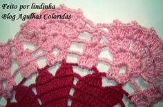 Agulhas Coloridas Croche e Trico: PAP - Passo a Passo da toalhinha de coraçoes - lindinha
