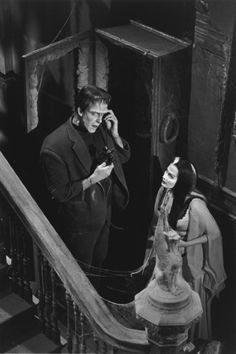 """The Munsters"" Fred Gwynne, Yvonne De Carlo 1964 CBS"