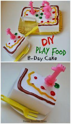 penso+invento+creo: Play Food, il cibo per giocare: torta di compleanno #playfood #cake #upcycling