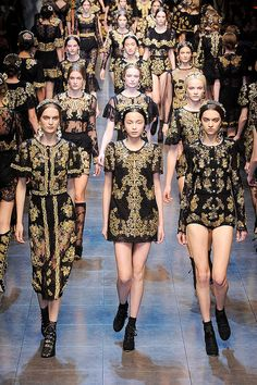 Battalion of Baroque Brocade Dresses