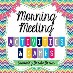 These Activities & Games for Morning Meeting are the perfect go-to for your classroom! Print, laminate, and put on a binder ring for convenient access. 85 activities, songs, and games are included and are divided into sets for the beginning, middle, and end of the year.