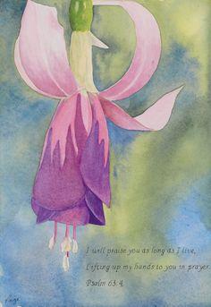 Faith art   christian art   verse art  flower by SchaferArtStudio
