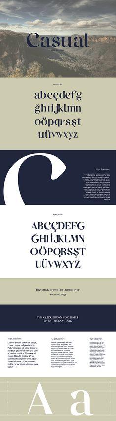 Casual / Free font / #serif