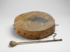 Frame Drum Date: 19th century Geography: United States Culture: Native American (Dakota) Medium: wood, various materials